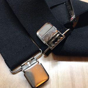 "Carhartt Men/'s Utility Suspender Adjustable Closure Durable Metal Clips Black 2/"""